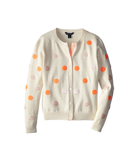 Tommy Hilfiger Kids - Sequins Cardigan Sweater (Big Kids) (Oat Heather) Girl