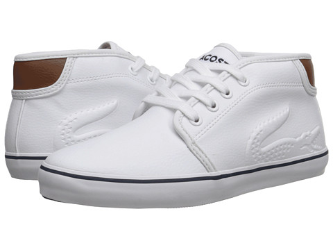 Lacoste Kids - Ampthill Chunky RBR FA15 (Little Kid) (White/White) Boy's Shoes
