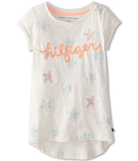 Tommy Hilfiger Kids - All Over Star Embellished Top (Big Kids) (Oat Heather) Girl's Clothing
