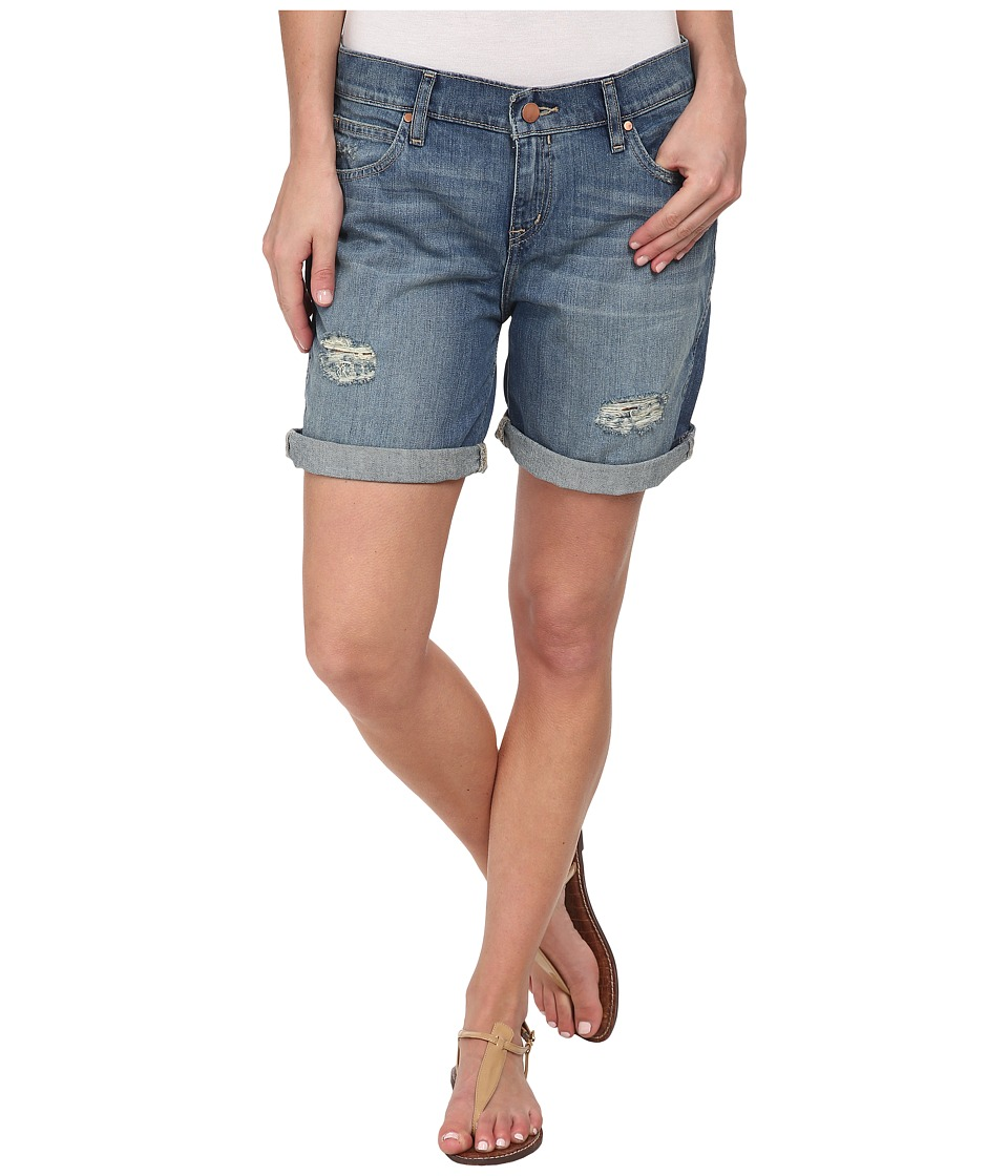 Calvin Klein Jeans - Destroyed Boyfriend Shorts (Supreme Blue) Women's Shorts