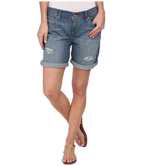 Calvin Klein Jeans - Destroyed Boyfriend Shorts (Supreme Blue) Women