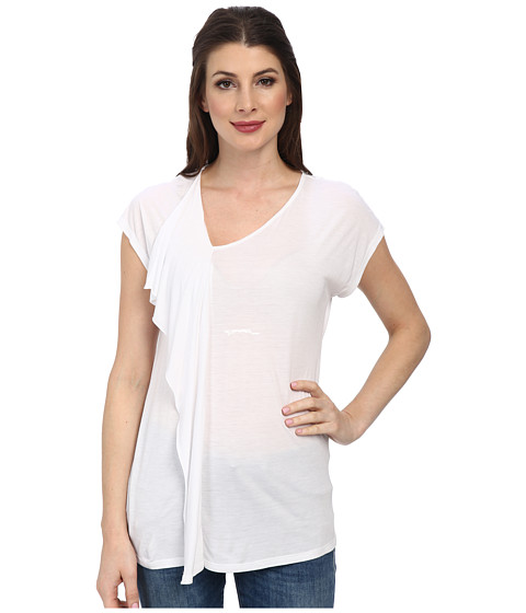 Tommy Bahama - Cliff Jersey Ruffle Top (White) Women's Clothing
