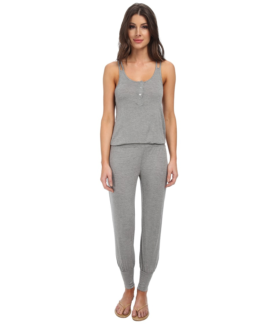 Splendid - Genie Romper (Marled Heather Grey) Women's Jumpsuit & Rompers One Piece