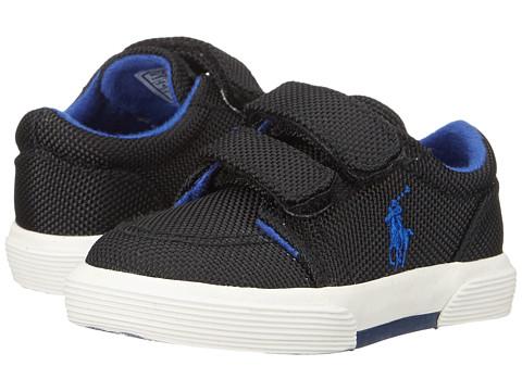 Polo Ralph Lauren Kids - Faxon II EZ (Toddler) (Black Ballistic Nylon/Royal) Boys Shoes