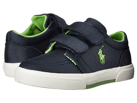 Polo Ralph Lauren Kids - Faxon II EZ (Toddler) (Navy Ballistic/Green) Boys Shoes