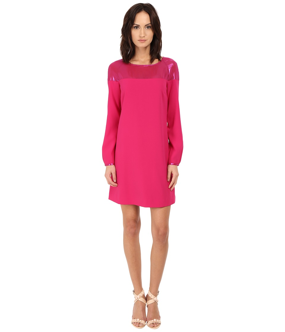 Armani Jeans Vestito Colorblock Shift Dress (Fuchsia) Women