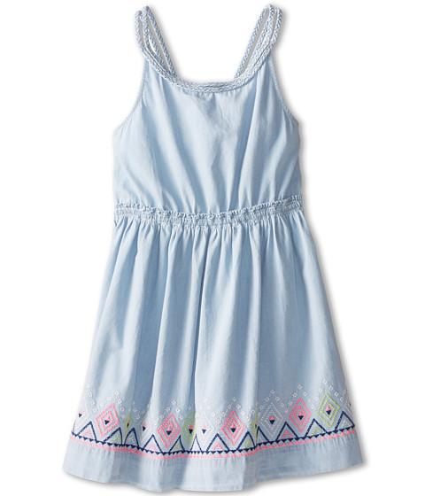 Tommy Hilfiger Kids - Fit Flare Denim Dress (Big Kids) (Light Wash) Girl