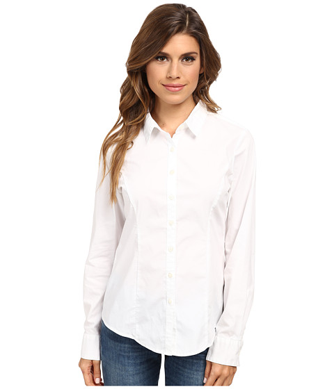 Dockers Misses - The Tailored Stretch Shirt (Paper White) Women