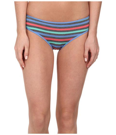 Splendid - Ruched Back Bikini (Pop Stripe) Women's Underwear