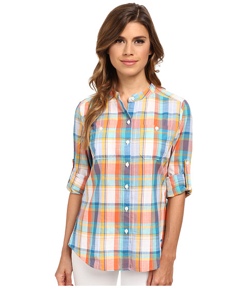 Dockers Misses - The Convertible Cargo Shirt (Abigale Plaid/Multi) Women's Clothing