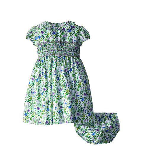 Oscar de la Renta Childrenswear - Meadow Floral Cotton Dress (Infant) (Fern Multi) Girl's Dress