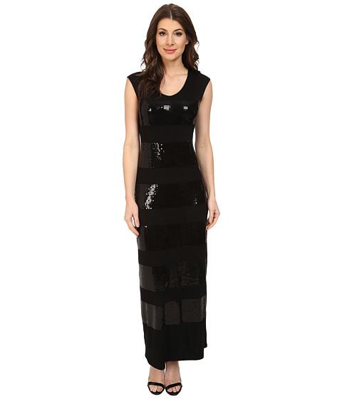 Tommy Bahama - Sequin Knit Long Dress (Black) Women's Dress