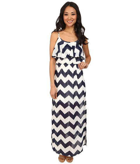 Gabriella Rocha - Deon Chevron Maxi Dress (Navy/Ivory) Women's Dress