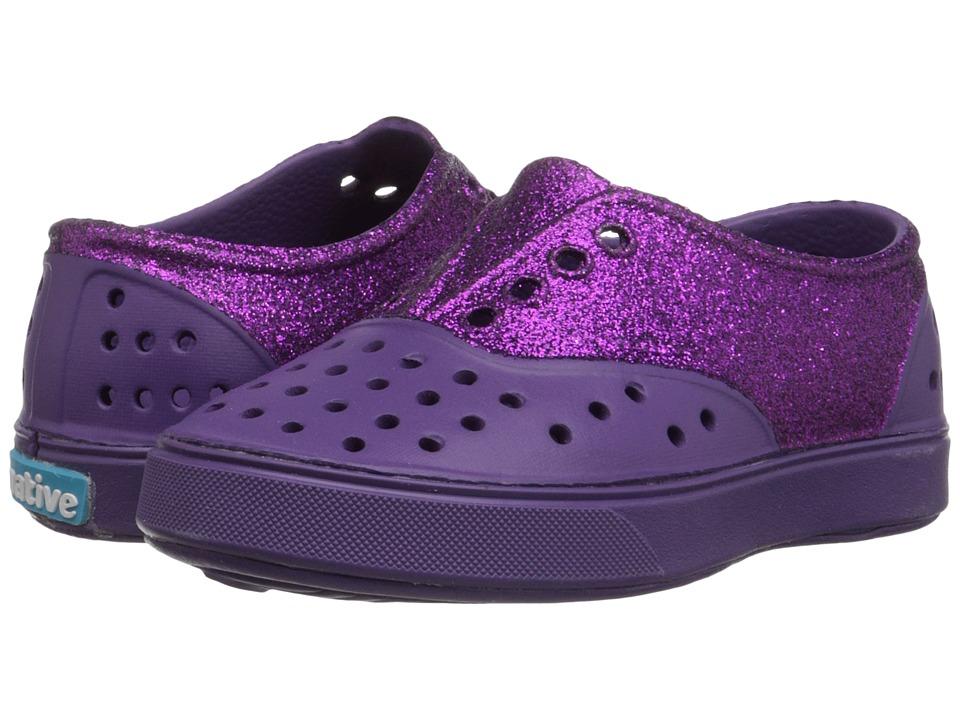 Native Kids Shoes - Miller Glitter (Toddler/Little Kid) (Orchid Purple/Glitter) Girl