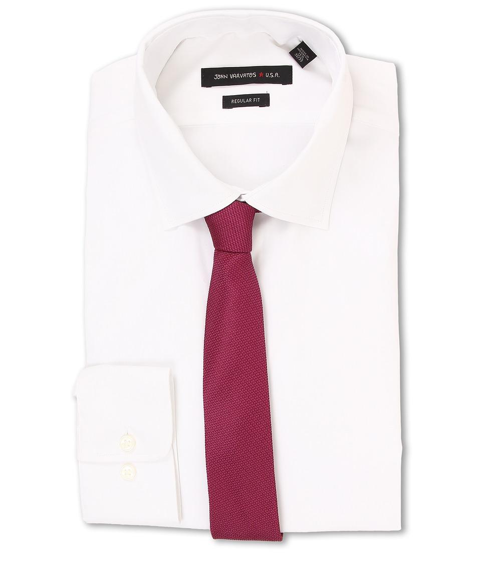 John Varvatos - Regular Fit Solid Dress Shirt (White) Men