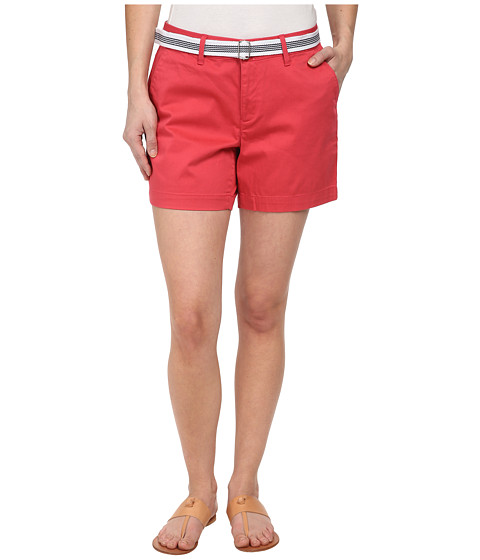 Dockers Petite - Petite The Essential Shorts (Claret Red) Women's Shorts