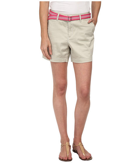 Dockers Petite - Petite The Essential Shorts (Porcelain Khaki) Women