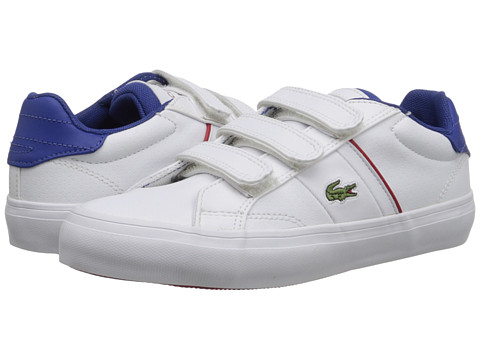 Lacoste Kids - Fairlead TCL FA15 (Little Kid) (White/White) Boy's Shoes