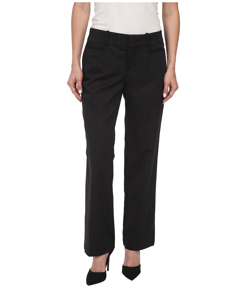Dockers Petite - Petite The Ideal Pants Straight Leg (Black) Women's Casual Pants