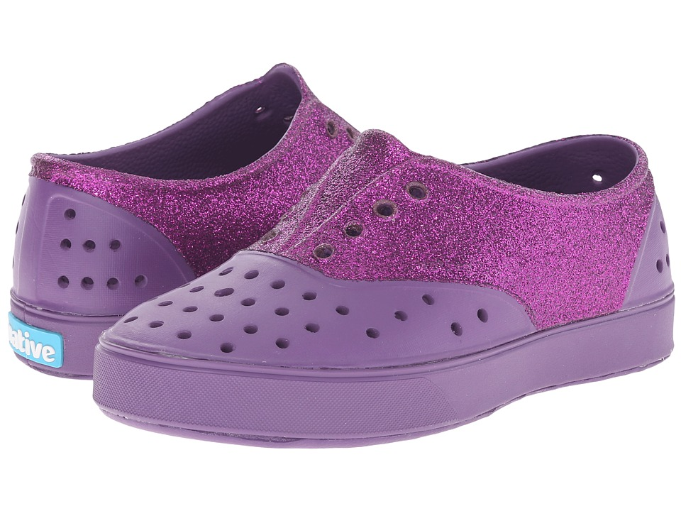 Native Kids Shoes - Miller Glitter (Little Kid) (Orchid Purple/Glitter) Girl's Shoes