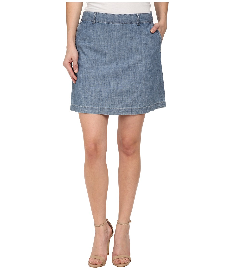 Dockers Petite - Petite Everyday Skooter (Chambray 2) Women's Skort