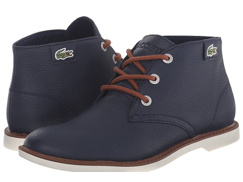 Lacoste Kids - Sherbrook HI SB FA15 (Little Kid/Big Kid) (Navy/Navy) Boys Shoes