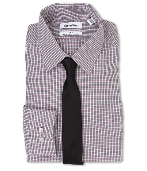 Calvin Klein - Slim Fit Non Iron Check (Pink Multi) Men's Clothing