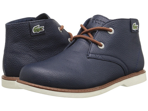 Lacoste Kids - Sherbrook HI SB FA15 (Little Kid) (Dark Blue/Dark Blue) Boy