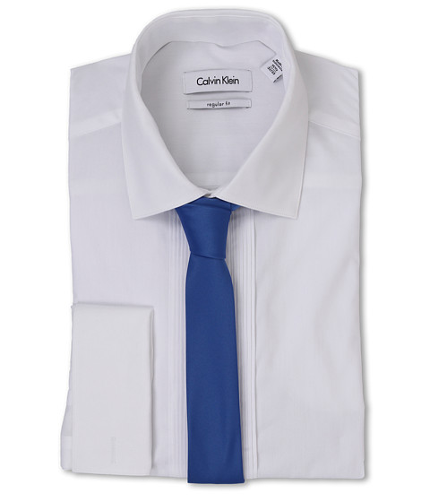 Calvin Klein - Regular Fit Formal Shirt (White) Men's Long Sleeve Button Up