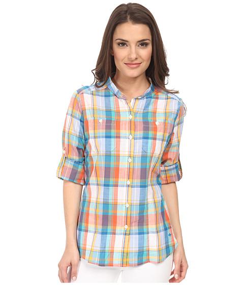 Dockers Petite - Petite The Convertible Cargo Shirt (Abigale Plaid/Multi) Women