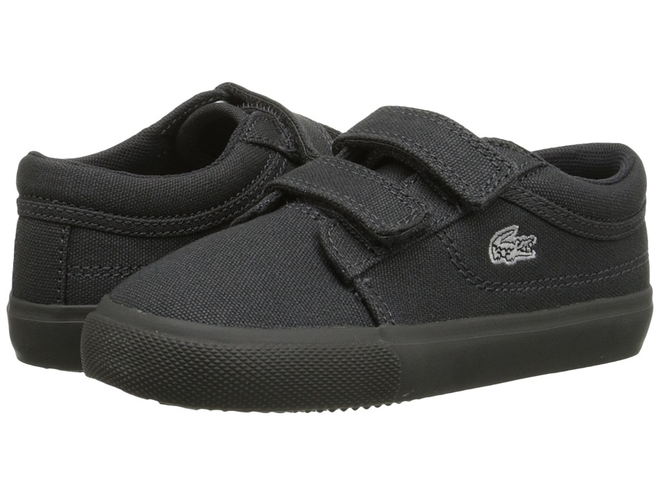Lacoste Kids - Vaultstar PPG FA15 (Toddler/Little Kid) (Dark Grey/Dark Grey) Kid's Shoes