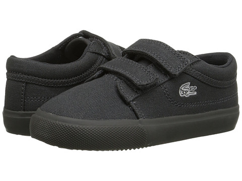 Lacoste Kids - Vaultstar PPG FA15 (Toddler/Little Kid) (Dark Grey/Dark Grey) Kid