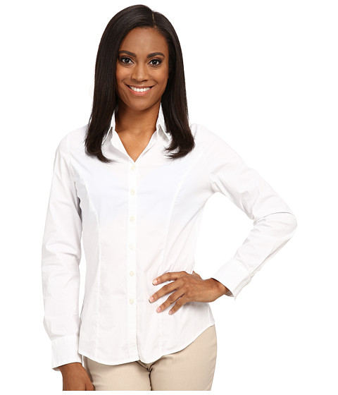 Dockers Petite - Petite The Tailored Stretch Shirt (Paper White) Women