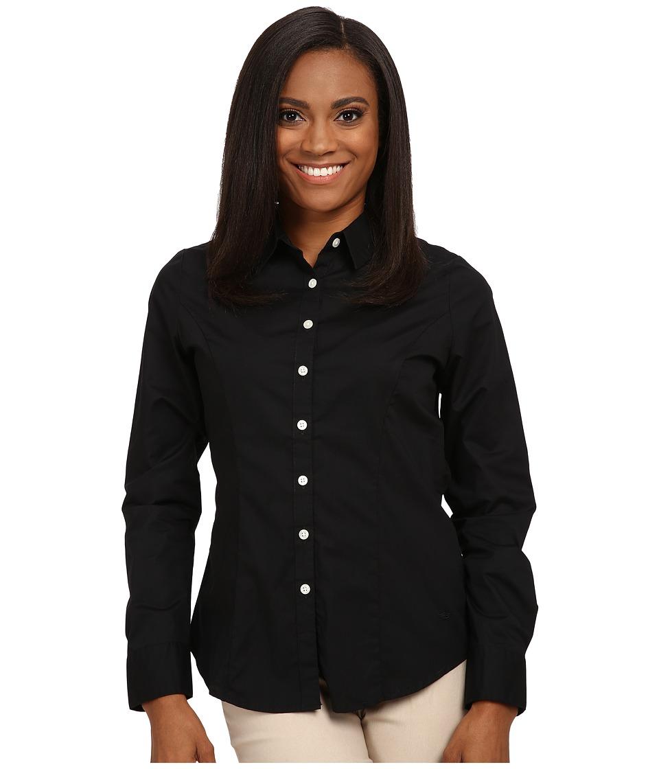 Dockers Petite - Petite The Tailored Stretch Shirt (Black) Women