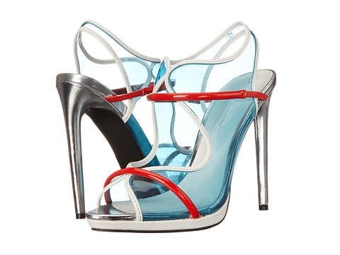 C Label - Dionne-3 (Light Blue/Red) High Heels
