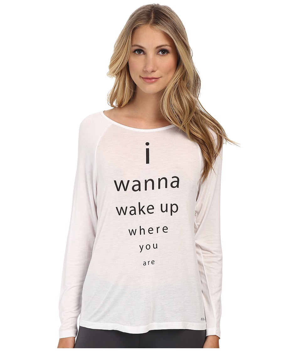 BCBGeneration - Scout The Lose Yourself Long Sleeve Shirt (White) Women's Pajama