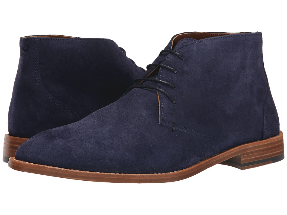 Sebago - Collier Chukka (Navy Suede) Men's Lace up casual Shoes