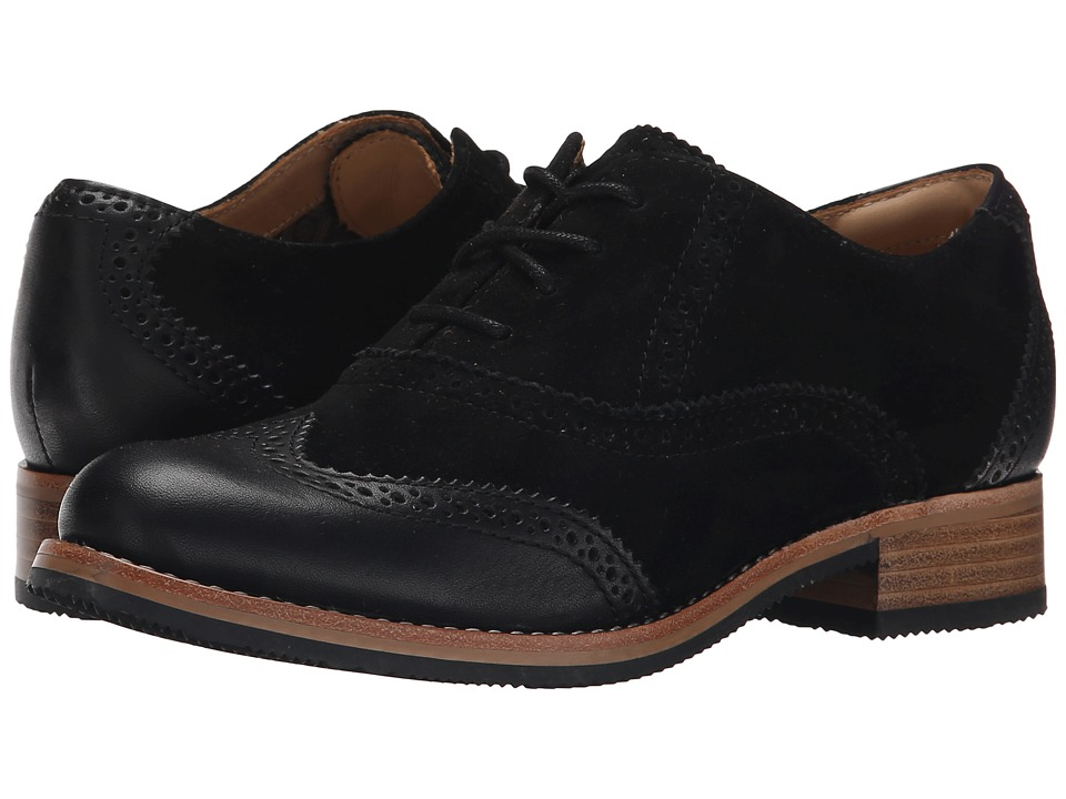 Sebago - Claremont Brogue (Black Suede) Women's Lace Up Wing Tip Shoes