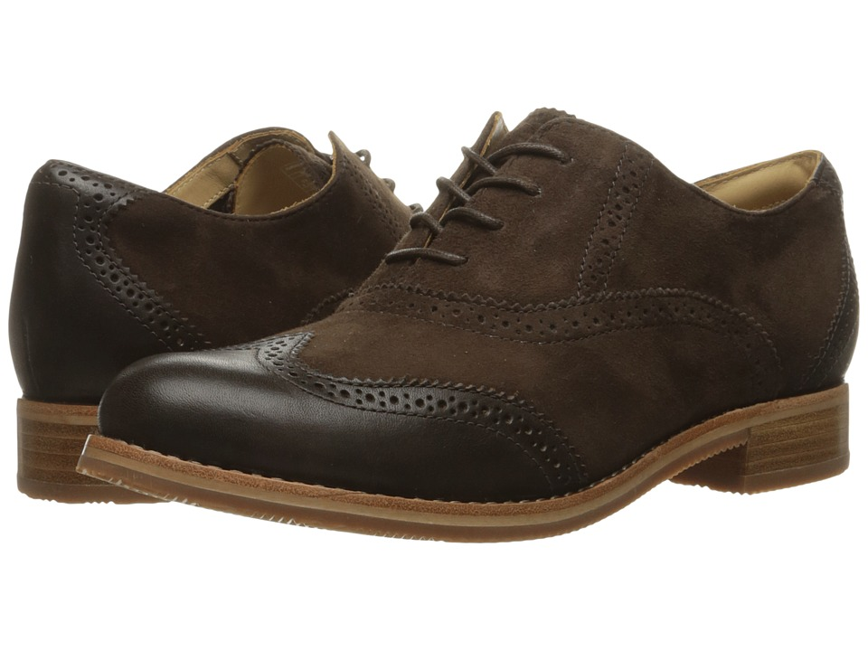 Sebago Claremont Brogue (Brown Suede) Women