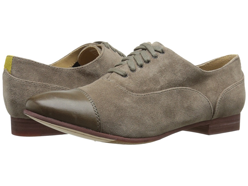 Sebago Hutton Cap Toe (Dark Taupe Suede) Women