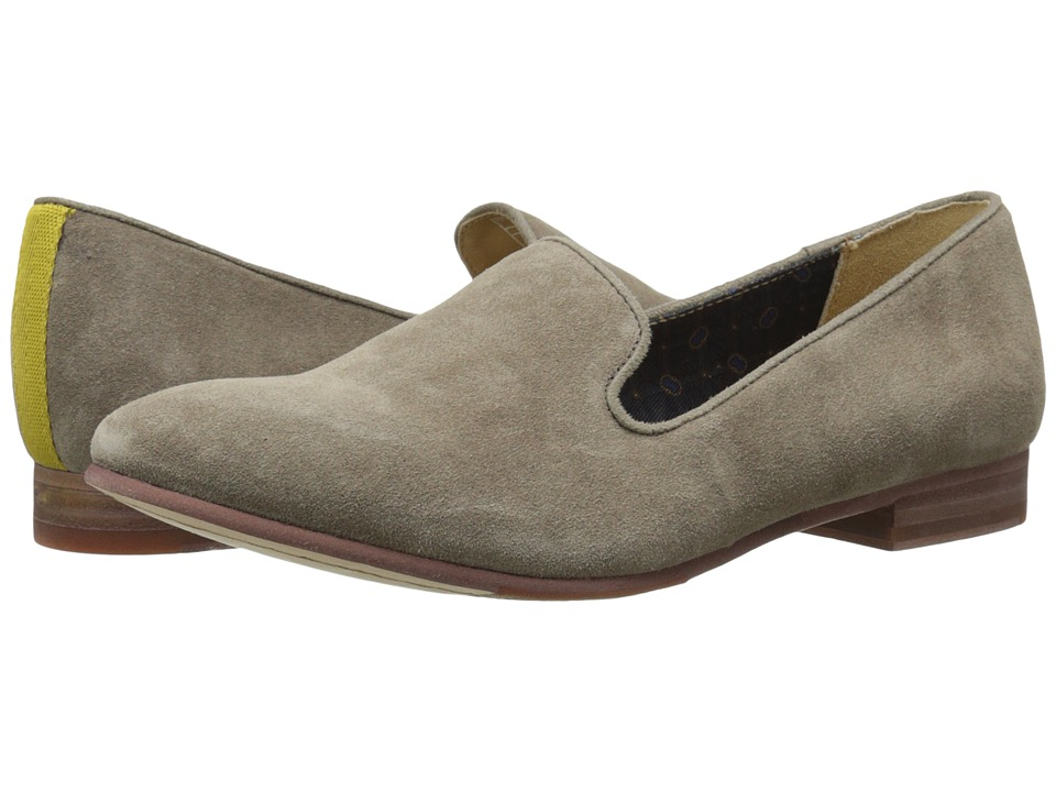 Sebago - Hutton Smoking Flat (Dark Taupe Suede) Women's Flat Shoes