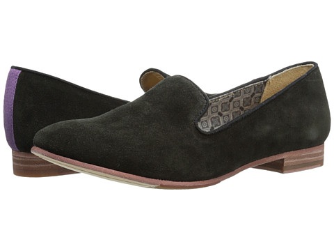 Sebago - Hutton Smoking Flat (Black Suede) Women's Flat Shoes