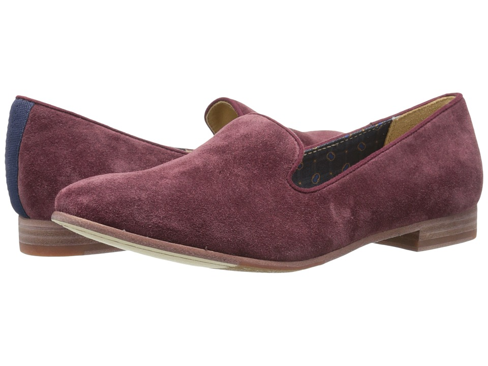 Sebago Hutton Smoking Flat (Wine Suede) Women