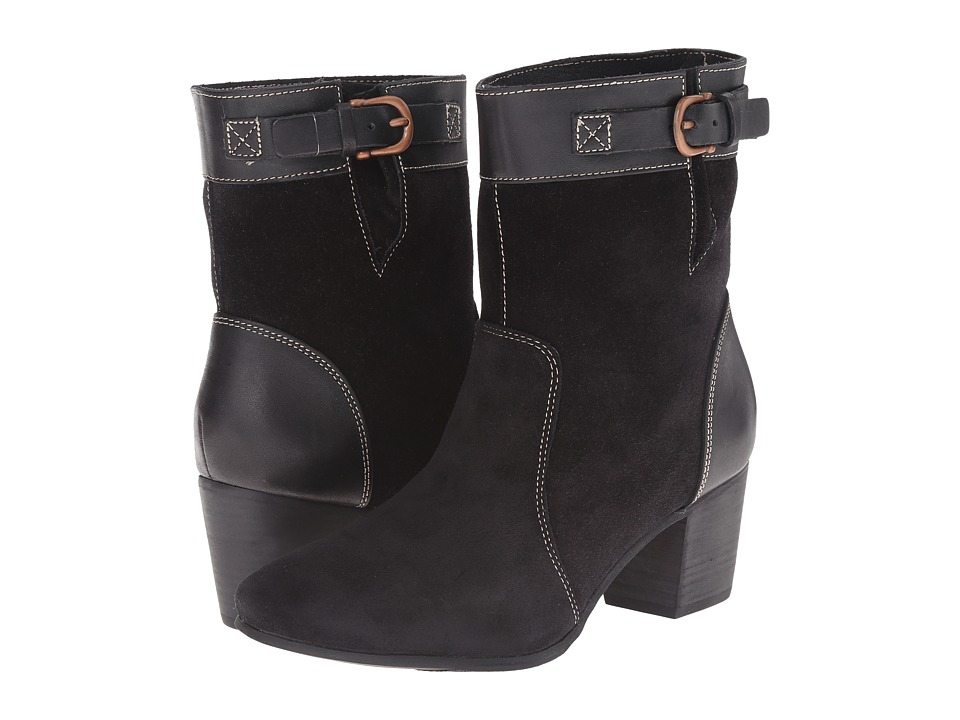 Sebago - Nell Ankle Boot (Black Suede) Women's Boots