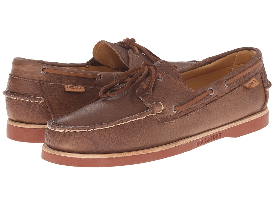 Sebago - Crest Dockside (Brown Bison Leather) Men's Shoes
