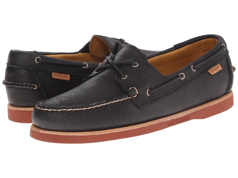 Sebago - Crest Dockside (Black Bison Leather) Men's Shoes