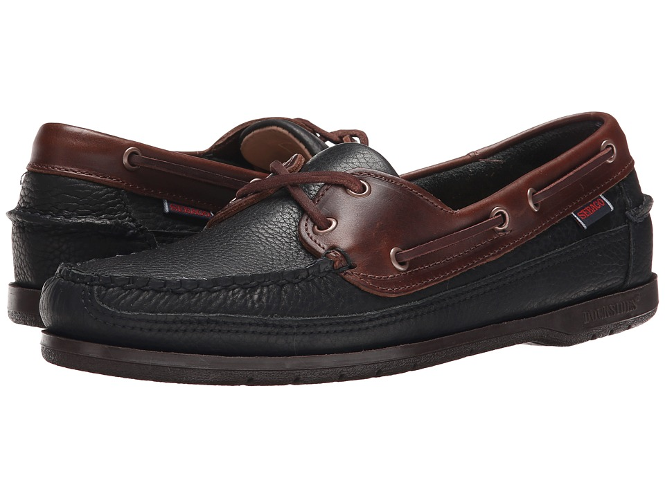 Sebago - Schooner (Black/Brown Leather) Men's Shoes