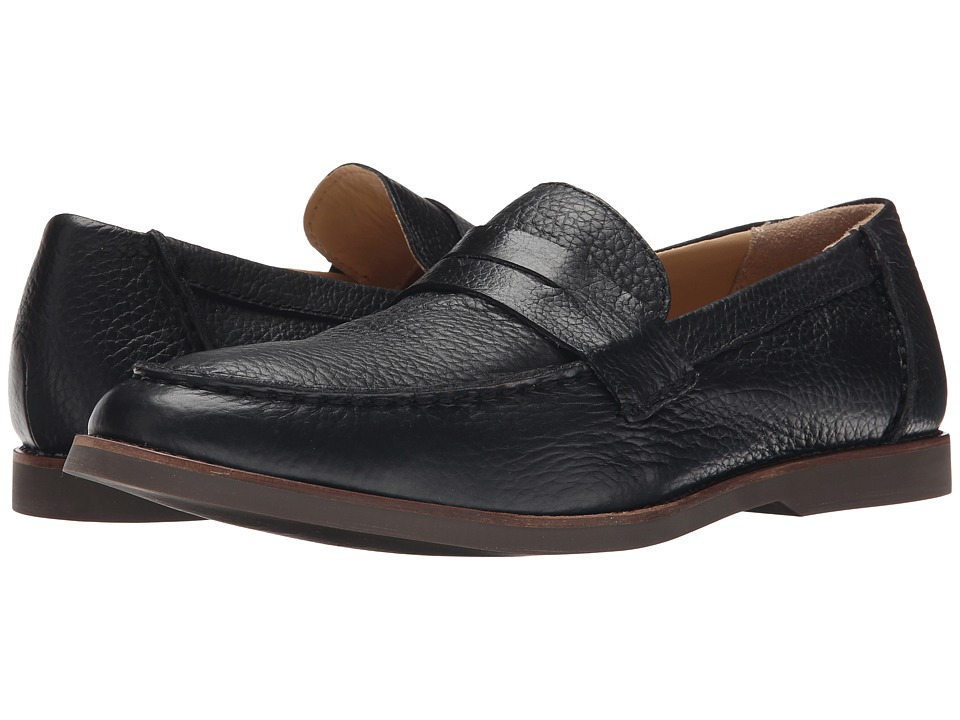 Sebago - Norwich Penny (Black Bison Leather) Men's Shoes