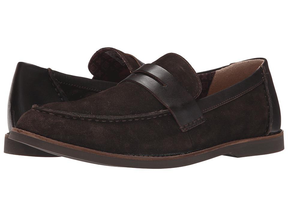 Sebago - Norwich Penny (Dark Brown Embossed Suede) Men's Shoes