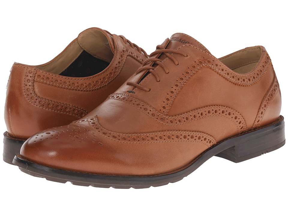 Sebago - Dresden Wing Tip (Tan Leather) Men's Lace Up Wing Tip Shoes